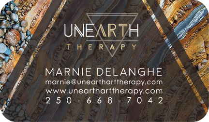 Unearth Art Therapy Business Card