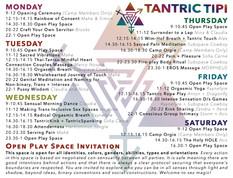 Tantric Tipi Event Schedule