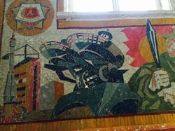 Dormitory mural work, Baikonur