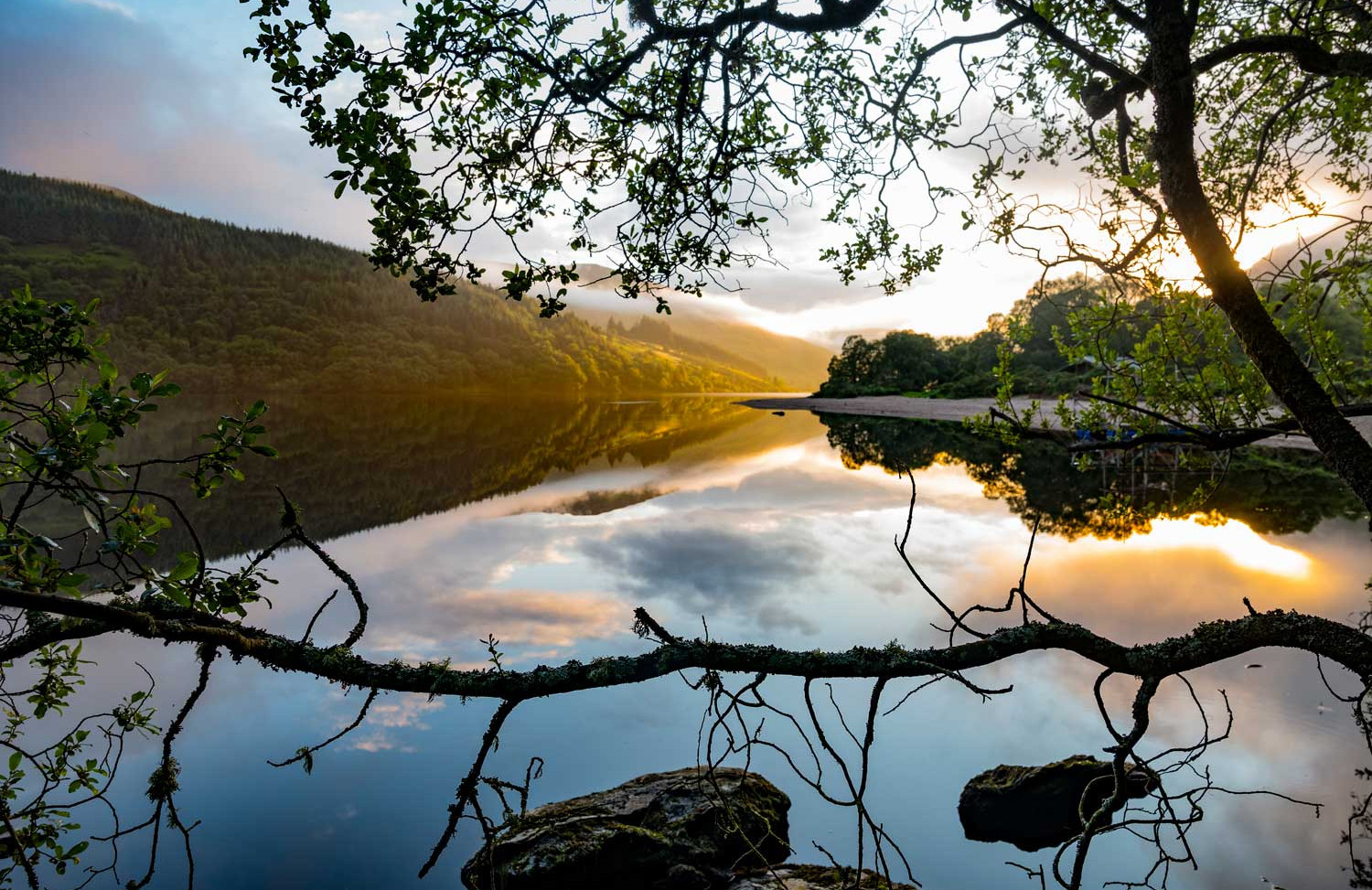 Lough Dan County Wicklow Sunset