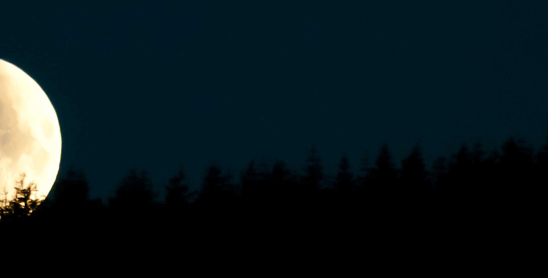 Moon Setting over the Dublin Mountains