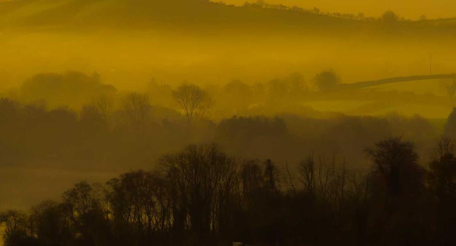 Sunrise over Lough Muckno