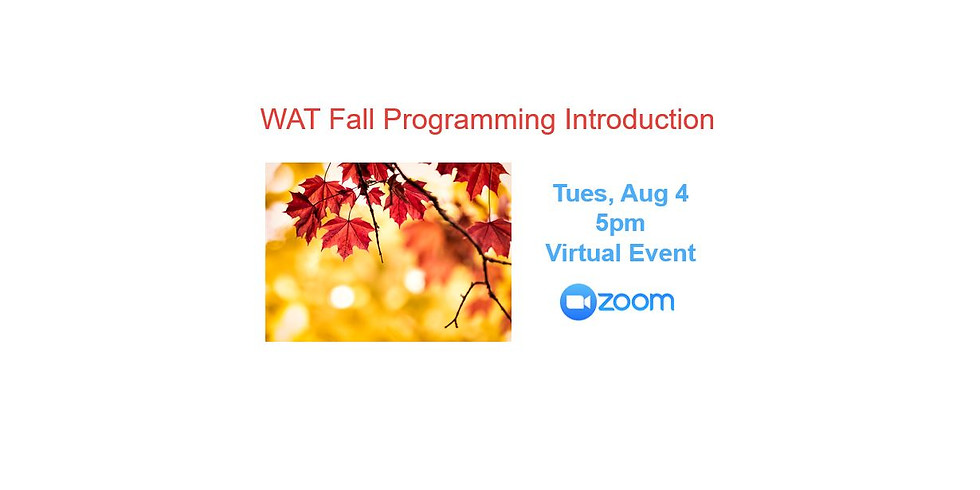 WAT Fall Programming Intro
