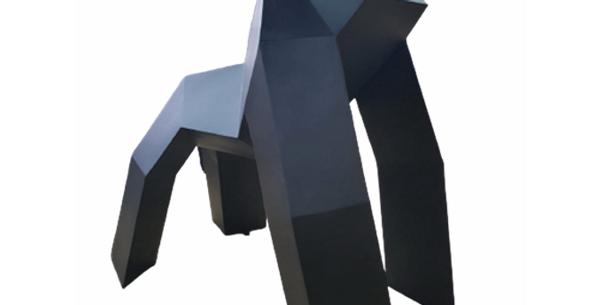 Animaux en résine Suisse - Gorille origami des plaines