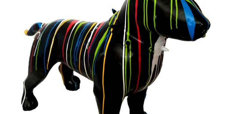 Animaux en résine Suisse - Bull-Terrier