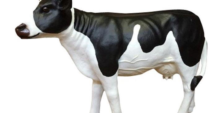 Animaux en résine Suisse -  Vache N/B