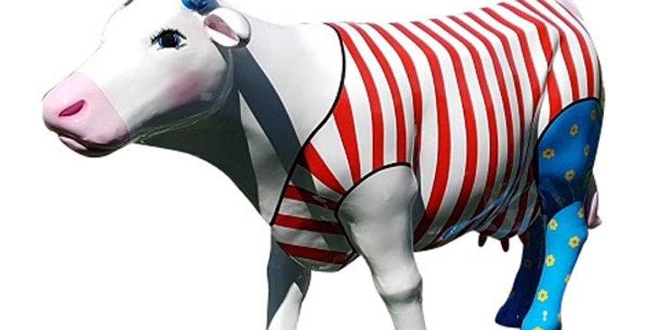 Animaux en résine Suisse - Vache smart