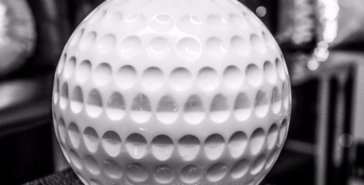Balle de Golf décorative en résine Blanche de 30cm de diamètre