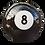Thumbnail: Boule de billard décorative en résine de 60cm de diamètre