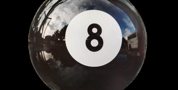 Boule de billard décorative en résine de 60cm de diamètre