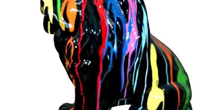 Animaux en résine Suisse - Lion multicolore