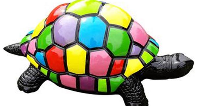 Animaux en résine Suisse - Tortue multicolore