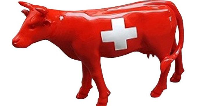 Animaux en résine Suisse - vache de décoration
