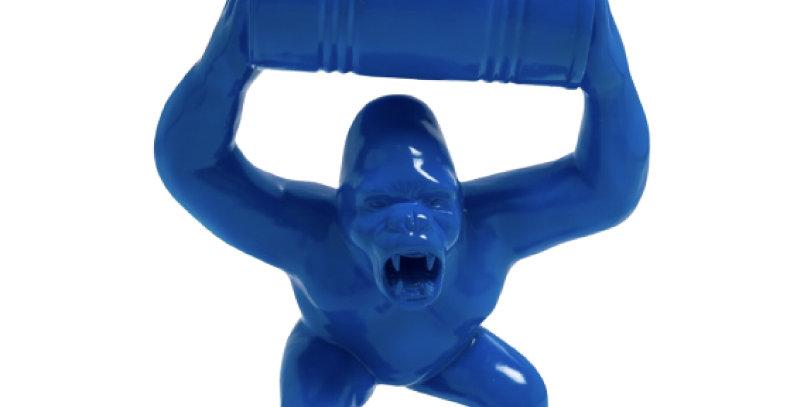 Animaux en résine Suisse - Gorille colérique avec tonneau