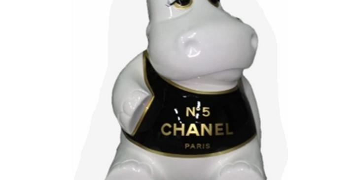 Animaux en résine Suisse - Hippopotame N°5 CHANEL