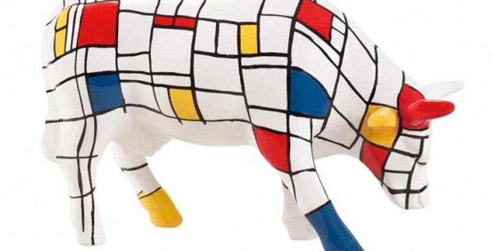 Animaux en résine Suisse - Vache Mondrian