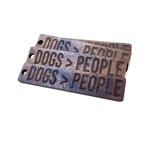 DOGS > PEOPLE KEYCHAIN