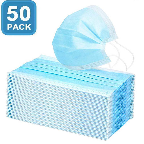 Disposable Masks - 3 Ply- 50 pack