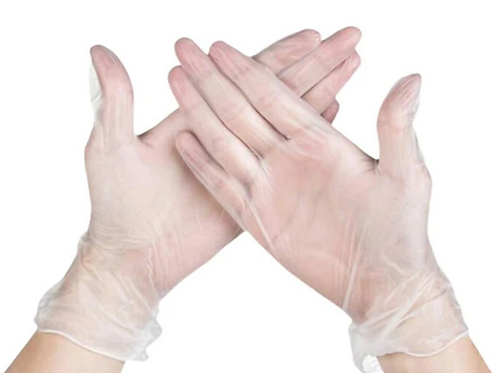 Vinyl Gloves - Size Medium, 100 per Box (50 Pairs)