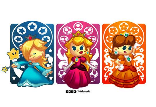 the_mushroom_kingdom_princesses_by_thief