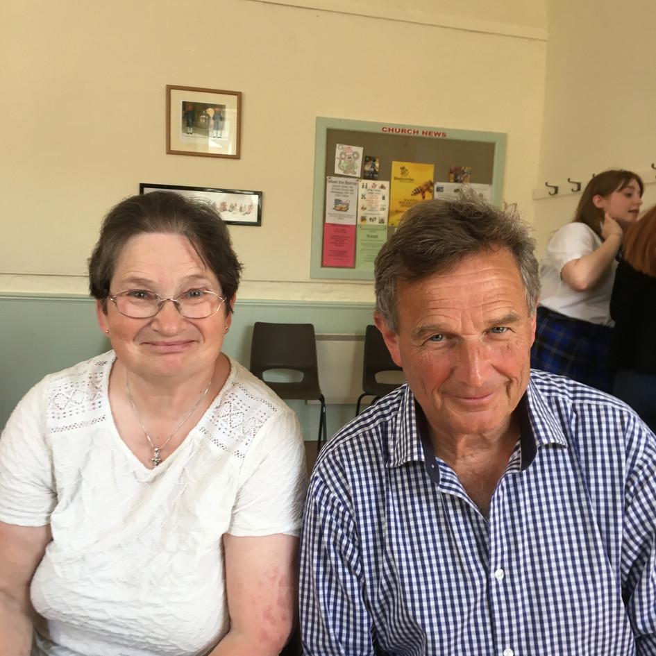 Carol Hobbs and John Bennett Churchwardens