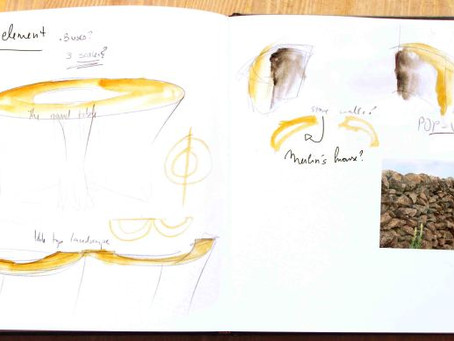 Sketchbook Pages 2 for new puppetry production of Arthur the Bear King