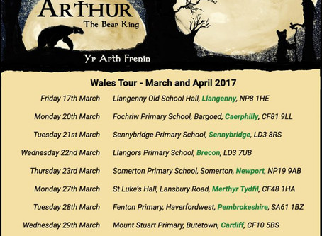 'Arthur the Bear King' Tour Dates - a new piece of puppet theatre by PuppetSoup