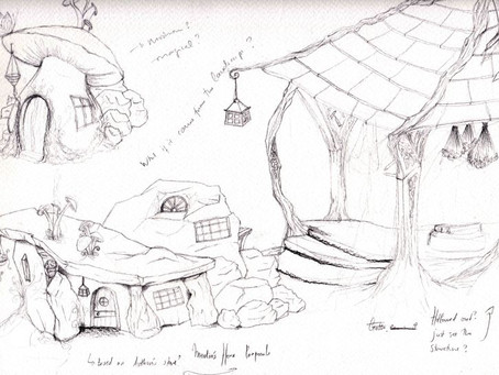 Concept Art sketches – first post of many to come for new puppetry production 'Arthur'