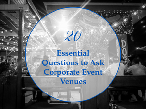 questions to ask corporate event venues