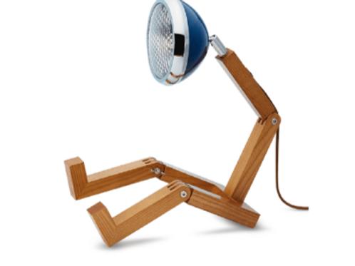 Lampe MR WATTSON bois clair