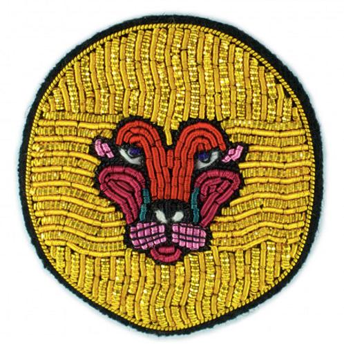 Broche LION Macon&Lesquoy 4,5x4,5 cm
