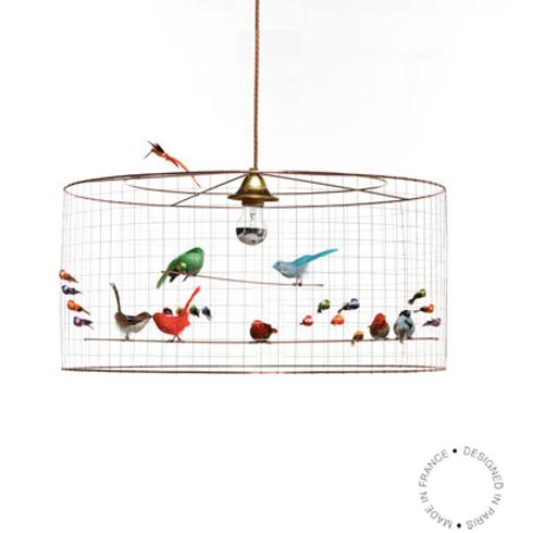 Lampe à suspendre demi grande VOLIERE de Mathieu Challière