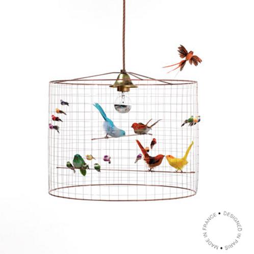 Lampe à suspendre petite VOLIERE de Mathieu Challière