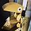 Thumbnail: Lampe Toucan doré Bleu Carmin design