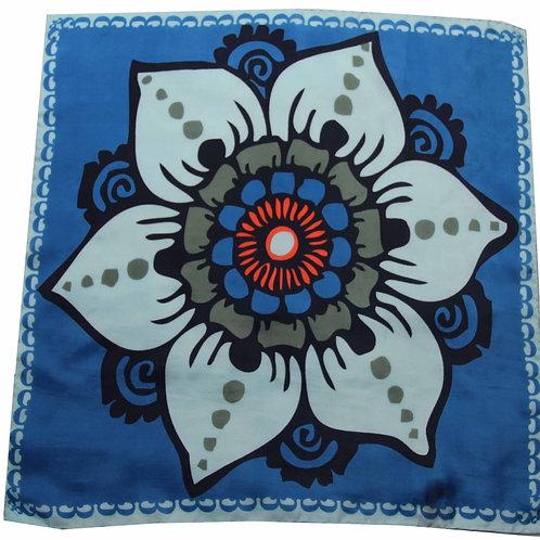 Foulard carré en soie Mogador