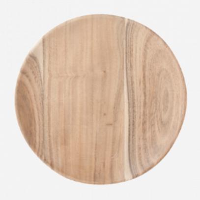 Assiette en bois d'accacia