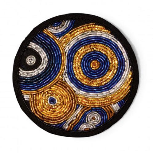Broche GALAXIE Macon&Lesquoy 5,5x5,5cm