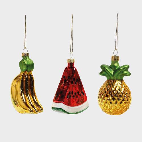 Décorations à Suspendre (set de 3 fruits)