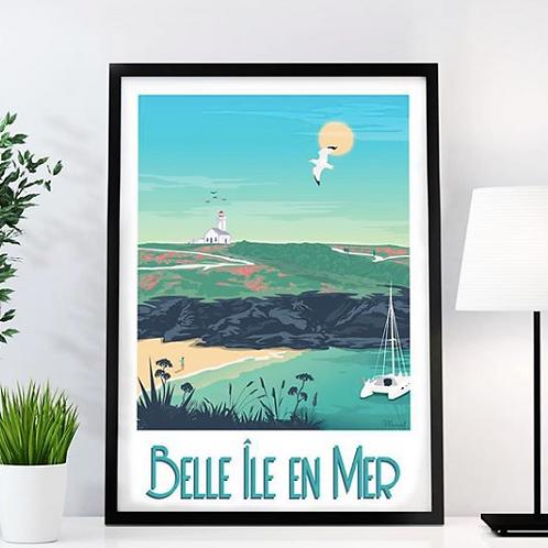 AFFICHE Les Îles et Lacs