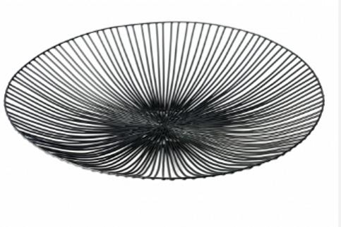 Corbeille plate noire Antonino Sciortino pour Serax