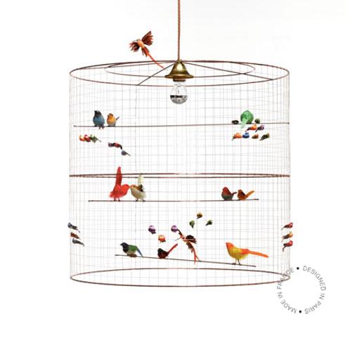 Lampe à suspendre grande VOLIERE de Mathieu Challière