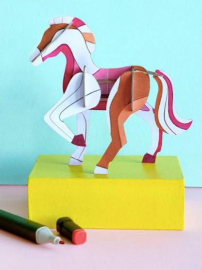 Décoration murale 3D DIY à colorier et à monter