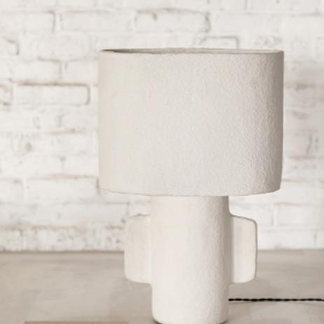 Lampe de table ovale en  papier mâché M.Michielsen Serax