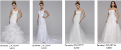 Dessina's Wedding Gowns up to 2X, 3X