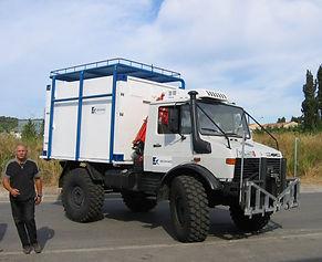 systèmes hydromécaniques sur camion démineur