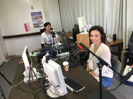 沖縄でラジオに出演しました。