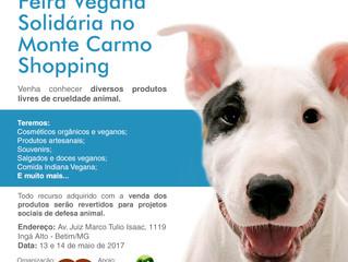 Nossa primeira Feira Vegana Solidária em Minas Gerais