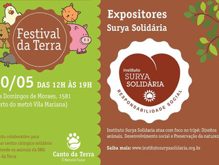 Estaremos no Festival da Terra - 20/05