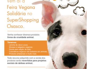 Feira Vegana Solidária dias 3 e 4/12