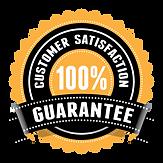 Golden-black seal of customer satisfaction guarantee